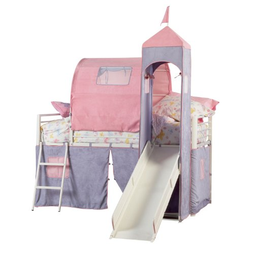 Powell Princess Castle Twin Tent Bunk Bed with Slide  sc 1 st  Best Kids Furniture deals & Top 10 Princess Castle beds with tents for 2017 | Best Kids ...