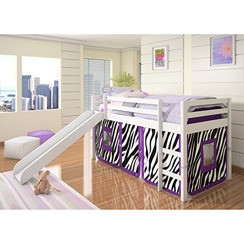 Donco Kids Twin Loft Tent Bed with Slide u2013 White  sc 1 st  Best Kids Furniture deals & Top 10 Princess Castle beds with tents for 2017   Best Kids ...
