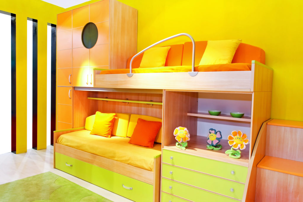 Bunk Beds Allow Them This Freedom As They Take Up Very Small Amounts Of  Space, Leaving The Maximum Amount For The Children To Use For Their Various  Playing ...