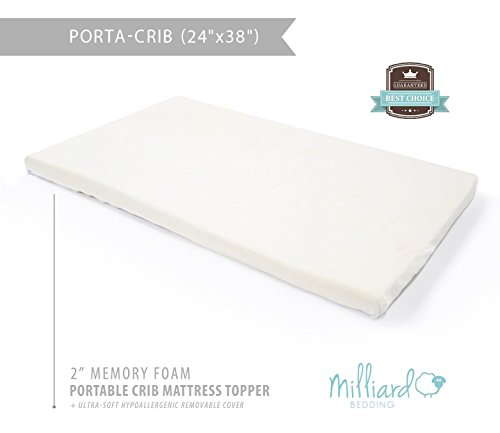 the milliard baby crib memory foam mattress topper is designed to provide ultimate comfort for your baby you will sleep better