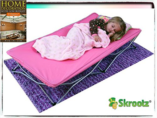 Portable Toddler Bed Cot Travel Kids Camping Folding New Baby Child Regalo Pink Guarantee By Skroutz It Comes Only With Unique Ebook