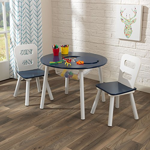 Whether Coloring Crafting Doing Homework Or Enjoying A Snack Kids Will Like The KidKraft Round Safe Keeping Table And Chair Established