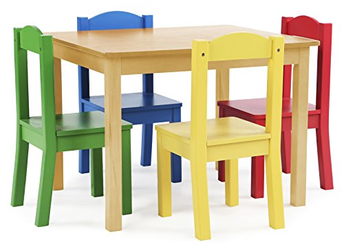 The Tot Tutors Focus Lumber Table And 4 Main Colored Chairs Set Is Perfect Size For Kids To Consume Read Books Color Carry Out Arts Crafts