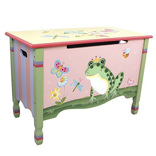 Fantasy Fields U2013 Magic Garden Thematic Kids Wooden Toy Chest With Safety  Hinges | Imagination Inspiring Hand Crafted U0026 Hand Painted Details Non Toxic,  ...