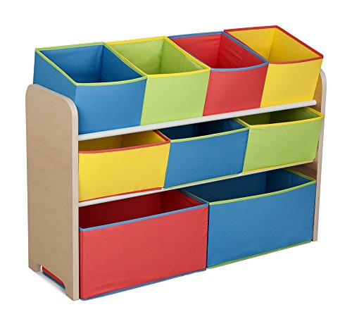 Add A Splash Of Color To Your Kid S Bedroom With The Delta Multi Deluxe Plaything Organizer Bins This Sy And Well Crafted 9 Bin Toy