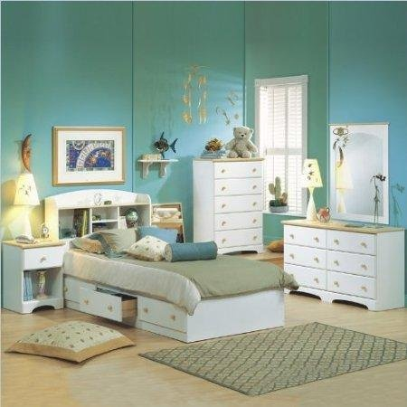 South Shore Newbury Children White Twin Solid Wood Captainu0027s Bed 4 Part  Bedroom Set South Shore Bedroom Models Maple People New Transitional Maple  South ...